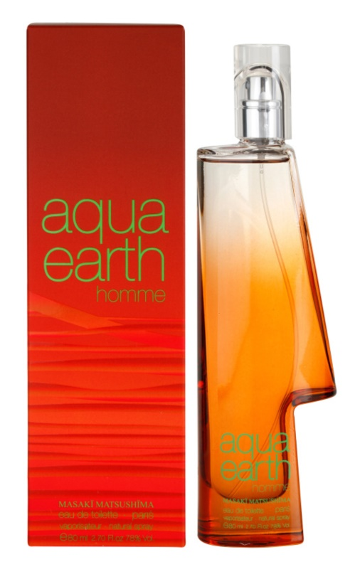 Masaki Matsushima Aqua Earth Homme Eau de Toilette for Men 80 ml