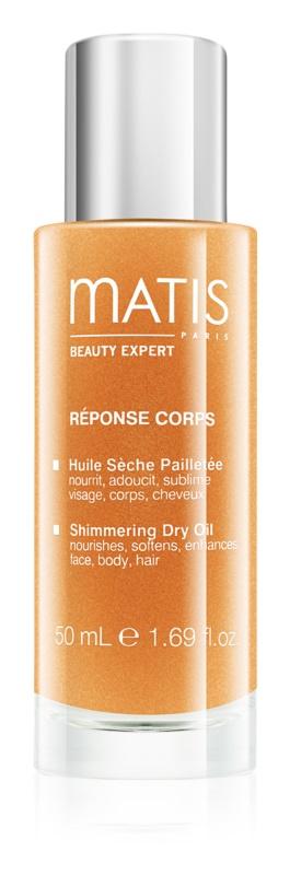 MATIS Paris Réponse Corps suchy olejek z drobinkami do twarzy, ciała i włosów