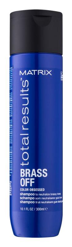 Matrix Total Results Brass Off shampoo die gele tonen neutraliseert