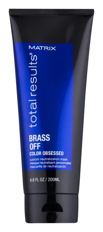 Matrix Total Results Brass Off Natürlich neutralisierende Maske für gebleichtes Haar