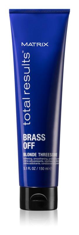 Matrix Total Results Brass Off Hitzeschutzcreme zur Glättung widerspenstiger Haare