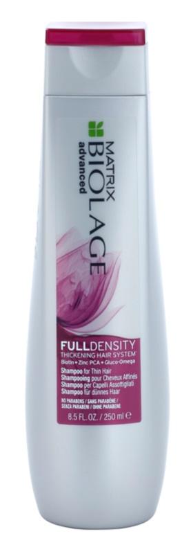 Matrix Biolage Advanced Fulldensity champô para reforçar o diâmetro da fibra capilar com efeito instantâneo