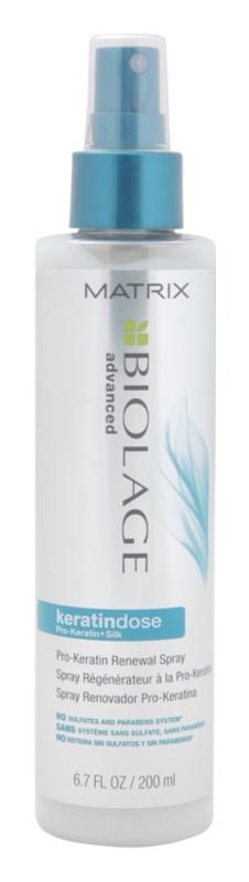 Matrix Biolage Advanced Keratindose spray rénovateur pour cheveux sensibilisés