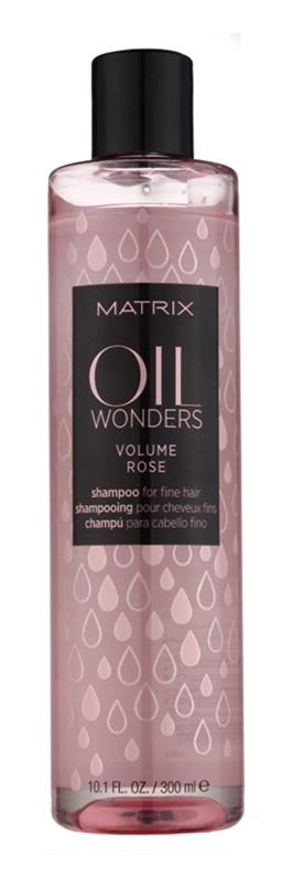 Matrix Oil Wonders Volume Rose szampon do włosów delikatnych