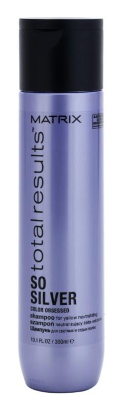 Matrix Total Results So Silver Shampoo zum Schutz blonder Haarfarbe