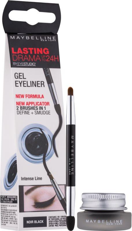Maybelline Eyeliner Lasting Drama™ tartós zselés szemhéjtus ecsettel