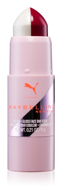 Maybelline Puma x Maybelline Color + Gloss Face Duo Stick blush et enlumineur waterproof