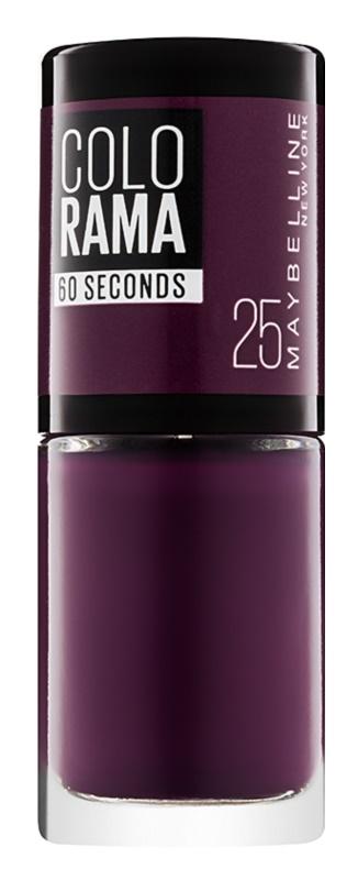 Maybelline Colorama 60 Seconds швидковисихаючий лак для нігтів