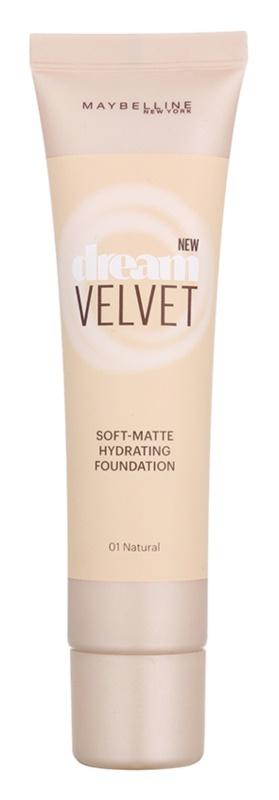 Maybelline Dream Velvet selymes make-up matt hatással