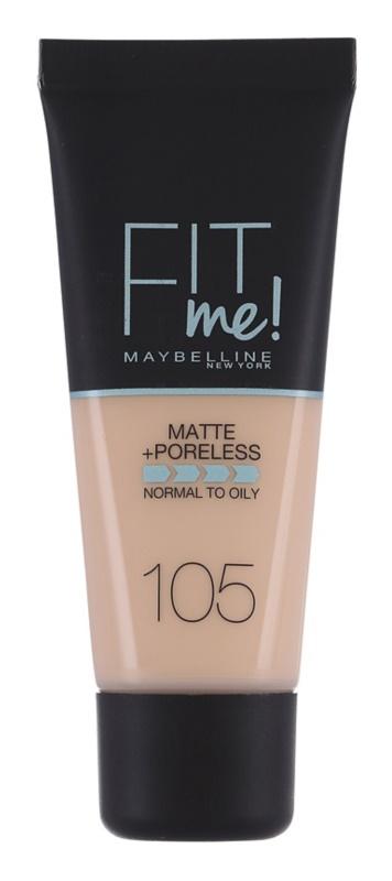 Maybelline Fit Me! Matte+Poreless fond de teint matifiant pour peaux normales à grasses