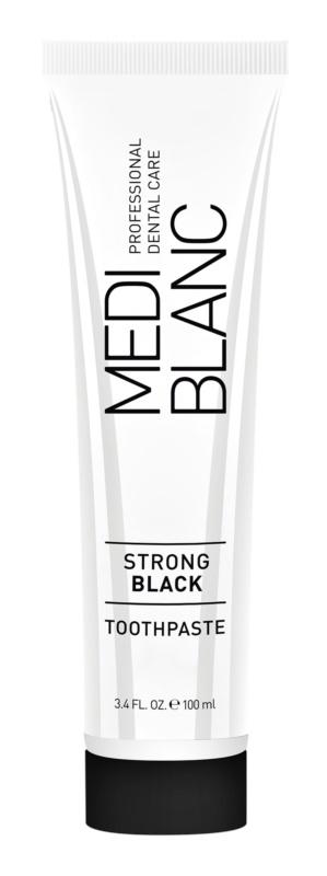 MEDIBLANC Strong Black Zahnpasta zum vollständigen Schutz der Zähne mit bleichender Wirkung