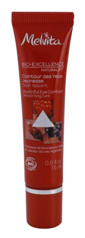 Melvita Bio-Excellence Naturalift pomlajevalna krema za predel okoli oči z gladilnim učinkom