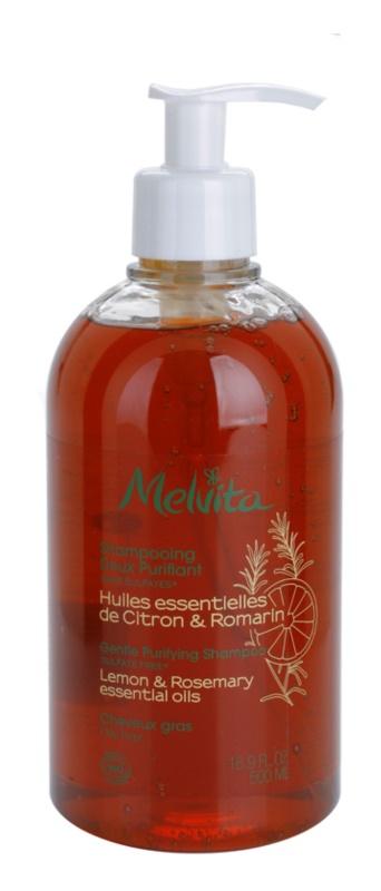 Melvita Hair nežni čistilni šampon za mastne lase