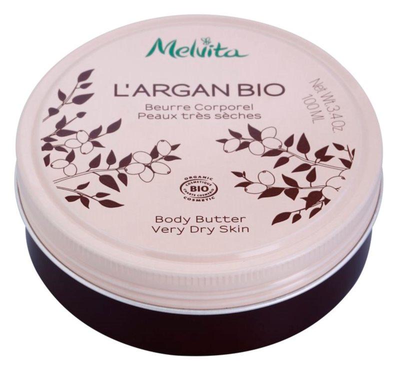 Melvita L'Argan Bio výživné telové maslo pre veľmi suchú pokožku