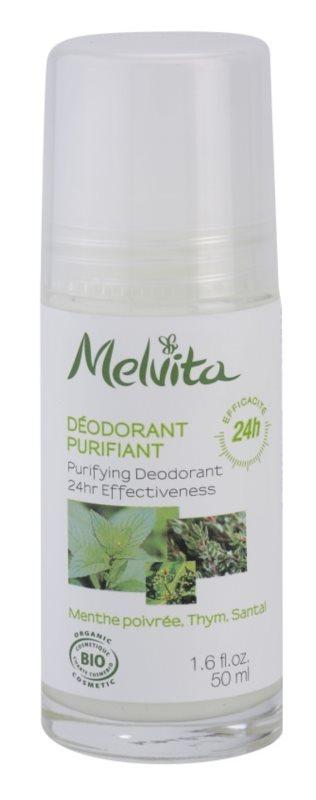Melvita Les Essentiels desodorante roll-on sin aluminio  24h