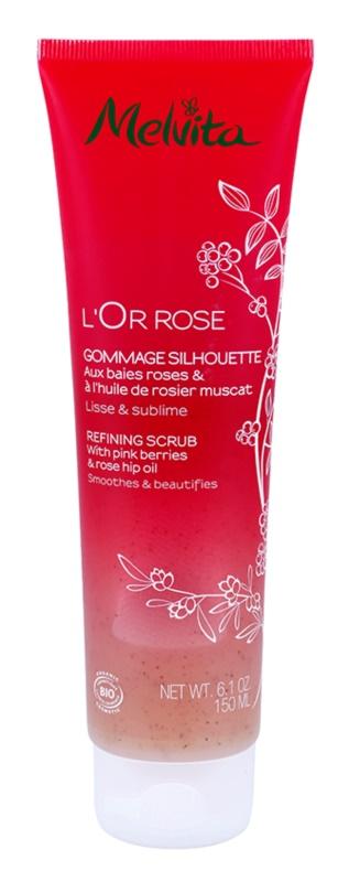 Melvita L'Or Rose telový peeling pre jemnú a hladkú pokožku