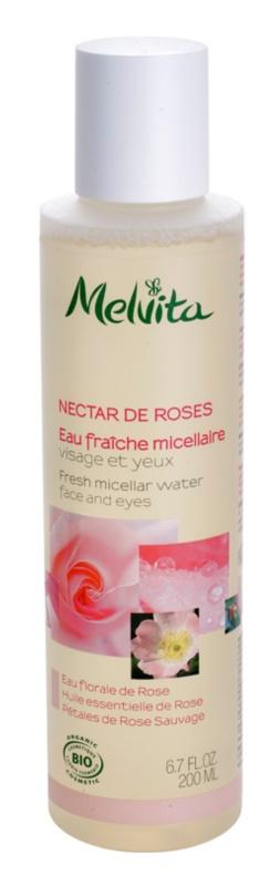 Melvita Nectar de Roses agua micelar refrescante  para rostro y ojos