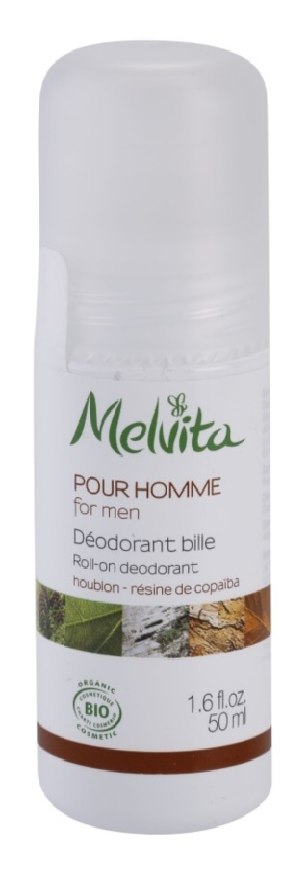 Melvita Pour Homme deodorant roll-on fara continut de aluminiu