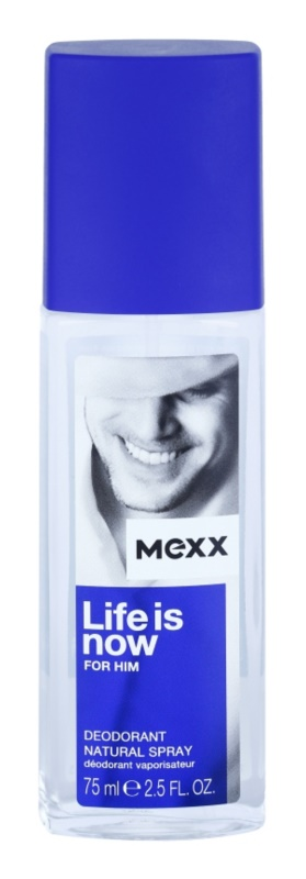 Mexx Life is Now for Him Deo mit Zerstäuber für Herren 75 ml