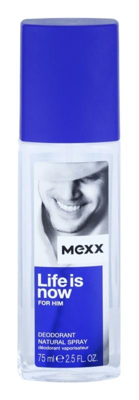 Mexx Life is Now  for Him dezodorant z atomizerem dla mężczyzn 75 ml