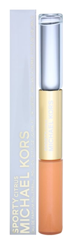 Michael Kors Sporty Citrus Eau de Parfum Roll-on for Women 2 x 5 ml + Lip Gloss