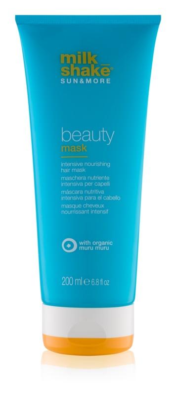 Milk Shake Sun & More máscara de nutrição intensa para cabelo danificado pelas ações do sol, cloro e sal