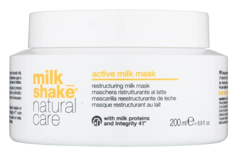 Milk Shake Natural Care Active Milk máscara ativadora de leite para cabelo seco a danificado