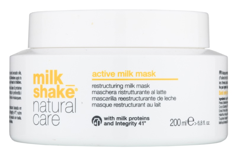 milk shake natural care active milk masque actif au lait pour cheveux secs et ab m s. Black Bedroom Furniture Sets. Home Design Ideas
