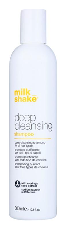 Milk Shake Deep Cleansing champô de limpeza profunda para todos os tipos de cabelos