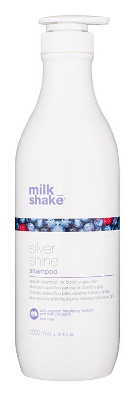 Milk Shake Silver Shine champô para cabelos cinzentos e loiros