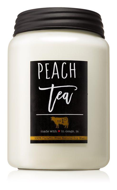 Milkhouse Candle Co. Farmhouse Peach Tea vela perfumada  737 g Mason Jar