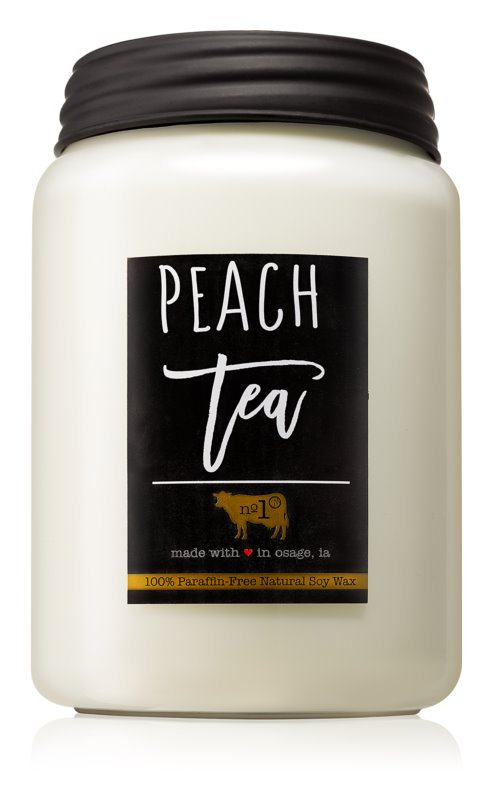 Milkhouse Candle Co. Farmhouse Peach Tea vonná svíčka 737 g Mason Jar