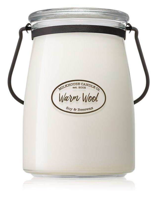 Milkhouse Candle Co. Creamery Warm Wool lumânare parfumată  624 g Butter Jar
