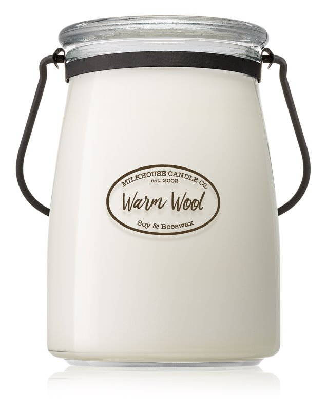 Milkhouse Candle Co. Creamery Warm Wool vela perfumado 624 g Butter Jar