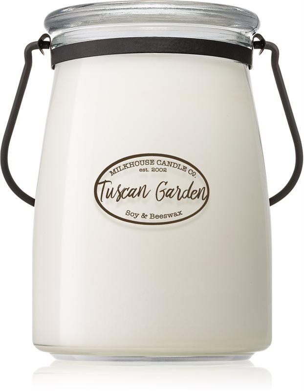 Milkhouse Candle Co. Creamery Tuscan Garden Duftkerze  624 g Butter Jar