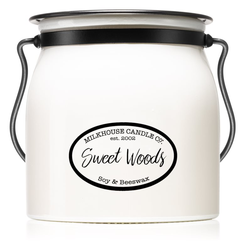 Milkhouse Candle Co. Creamery Sweet Woods bougie parfumée 454 g Butter Jar