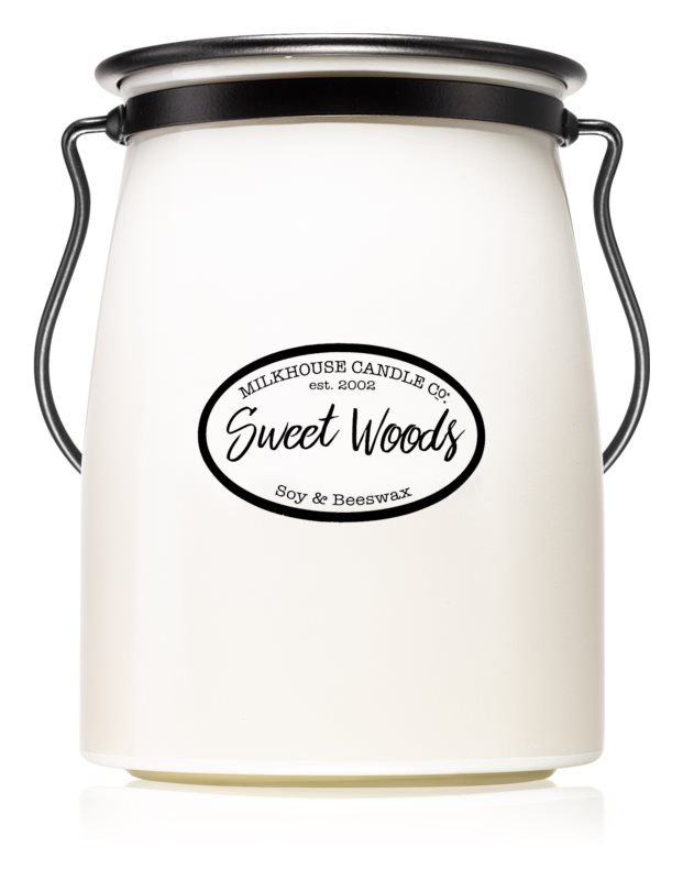 Milkhouse Candle Co. Creamery Sweet Woods bougie parfumée 624 g Butter Jar