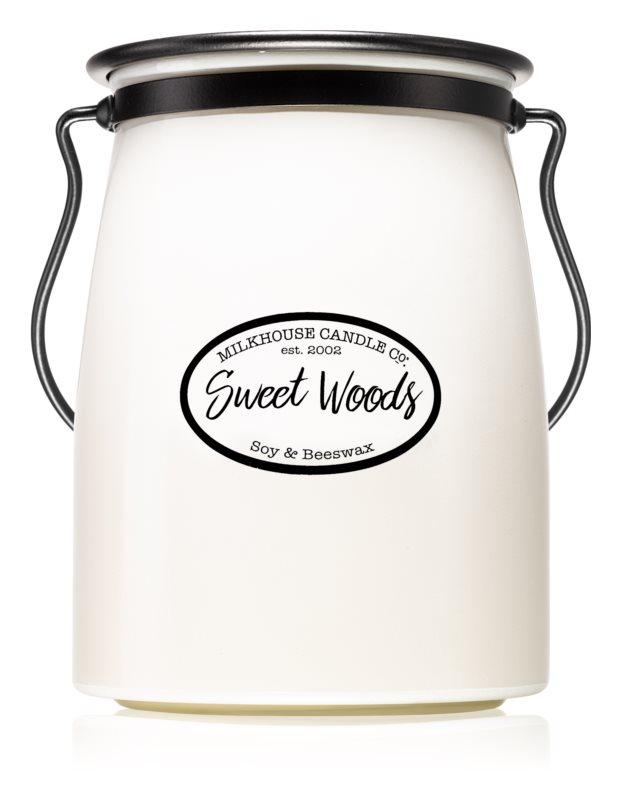 Milkhouse Candle Co. Creamery Sweet Woods dišeča sveča  624 g Butter Jar