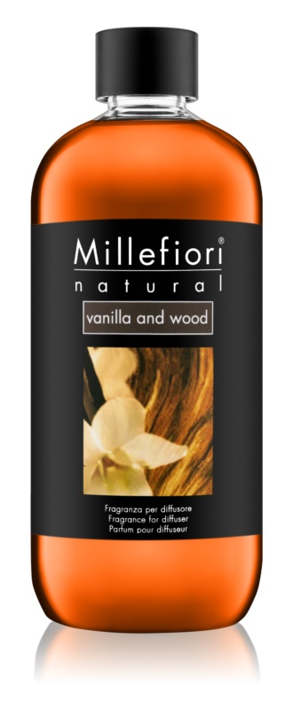 Millefiori Natural Vanilla and Wood ricarica per diffusori di aromi 500 ml