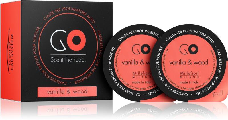 Millefiori GO Vanilla & Wood vůně do auta 2 ks náhradní náplň