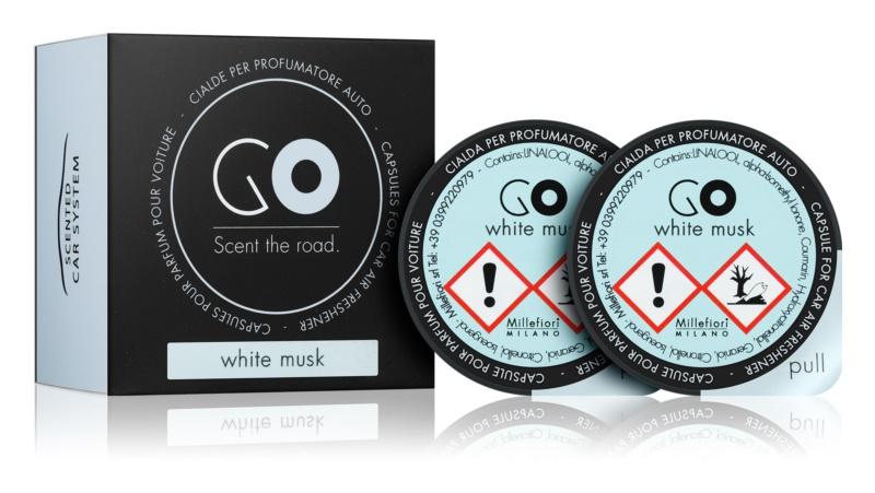 Millefiori GO White Musk parfum pentru masina 2 buc Refil