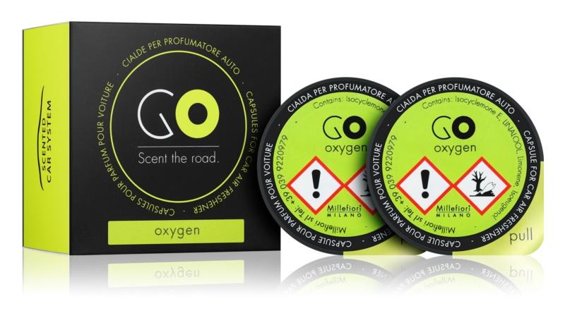 Millefiori GO Oxygen parfum pentru masina 2 buc Refil