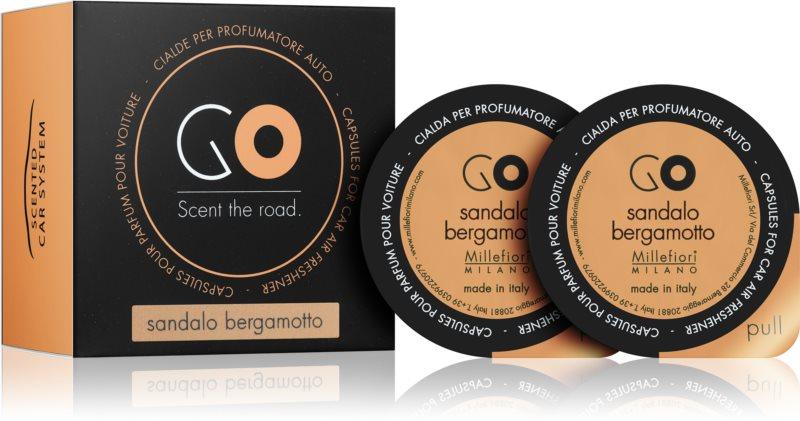 Millefiori GO Sandalo Bergamotto illat autóba 2 db utántöltő