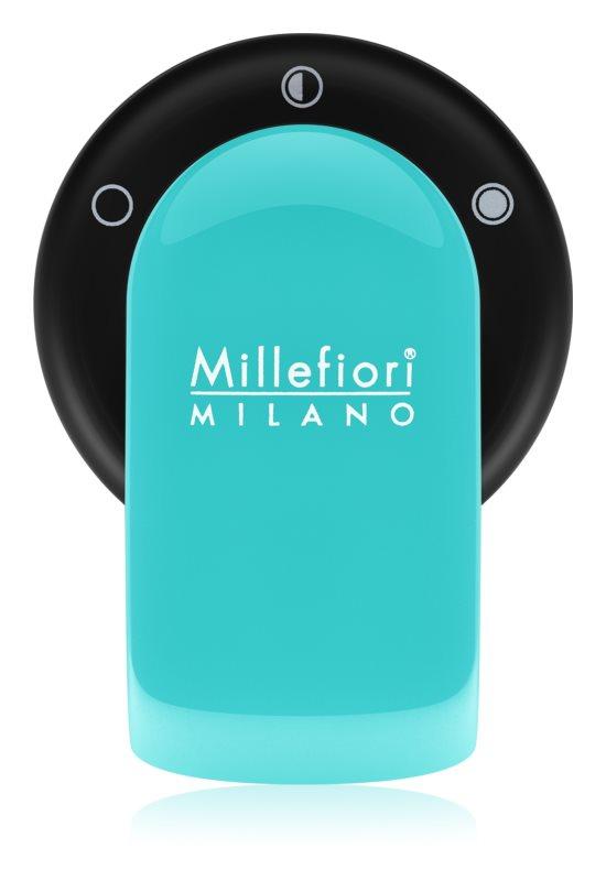 Millefiori GO suporte para ambientador de carro   com recarga Acquamarina (Sandalo Bergamotto)