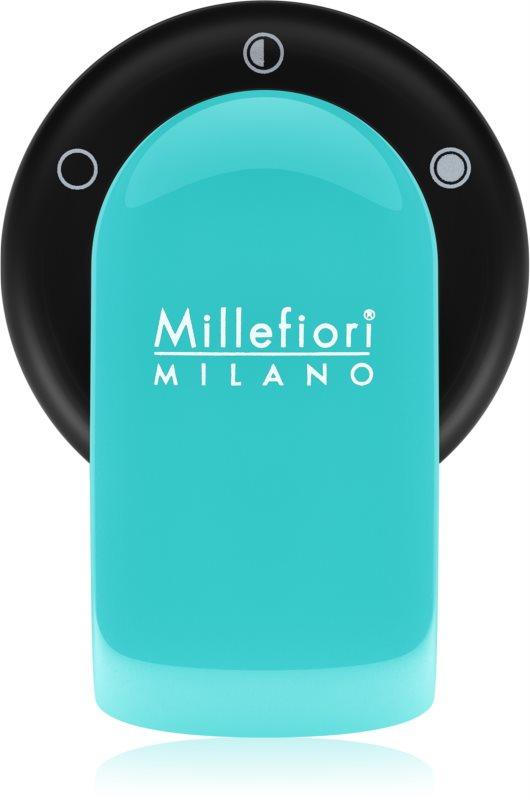 Millefiori GO supporto per deodoranti per auto   con ricarica Acquamarina (Sandalo Bergamotto)
