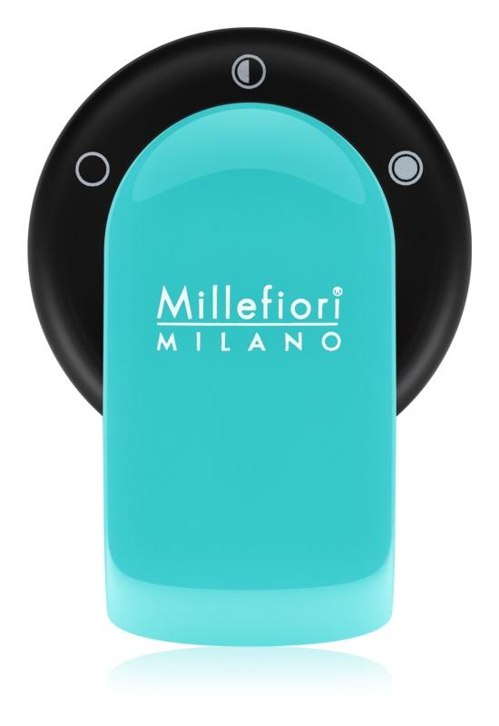 Millefiori GO uchwyt zapachowy do samochodu   z napełnieniem Acquamarina (Sandalo Bergamotto)