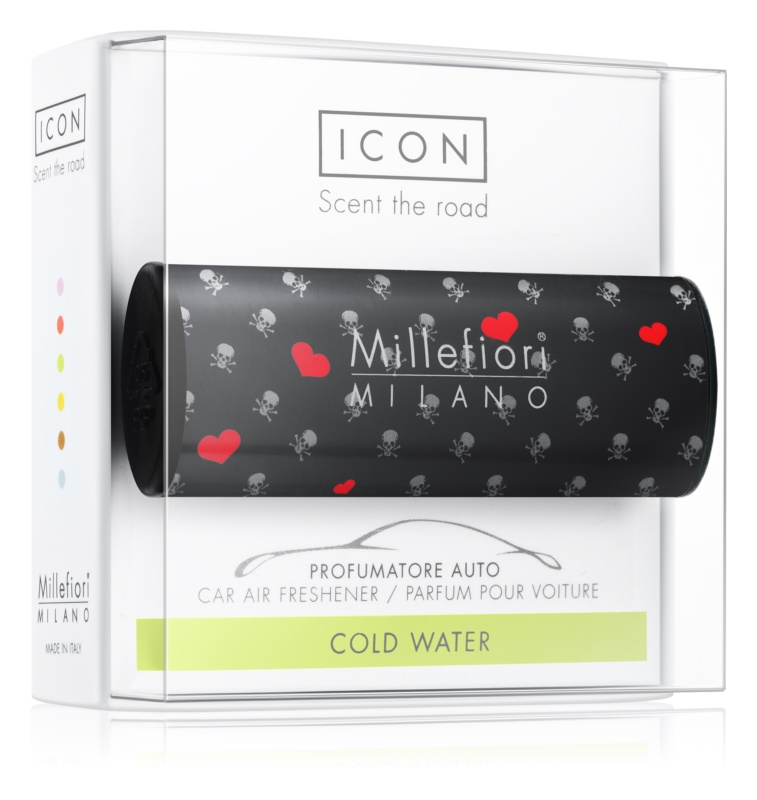 Millefiori Icon Cold Water Car Air Freshener   Cuori & Fuori