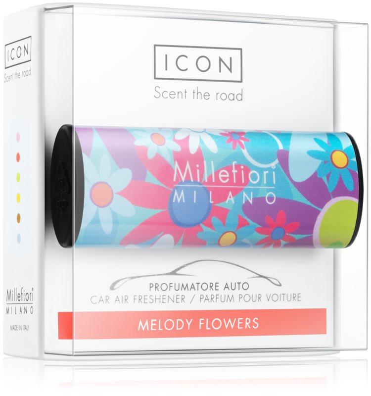 Millefiori Icon Melody Flowers désodorisant voiture   Cuori & Fuori