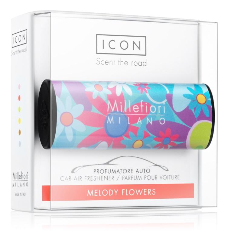 Millefiori Icon Melody Flowers odświeżacz do samochodu   Cuori & Fuori
