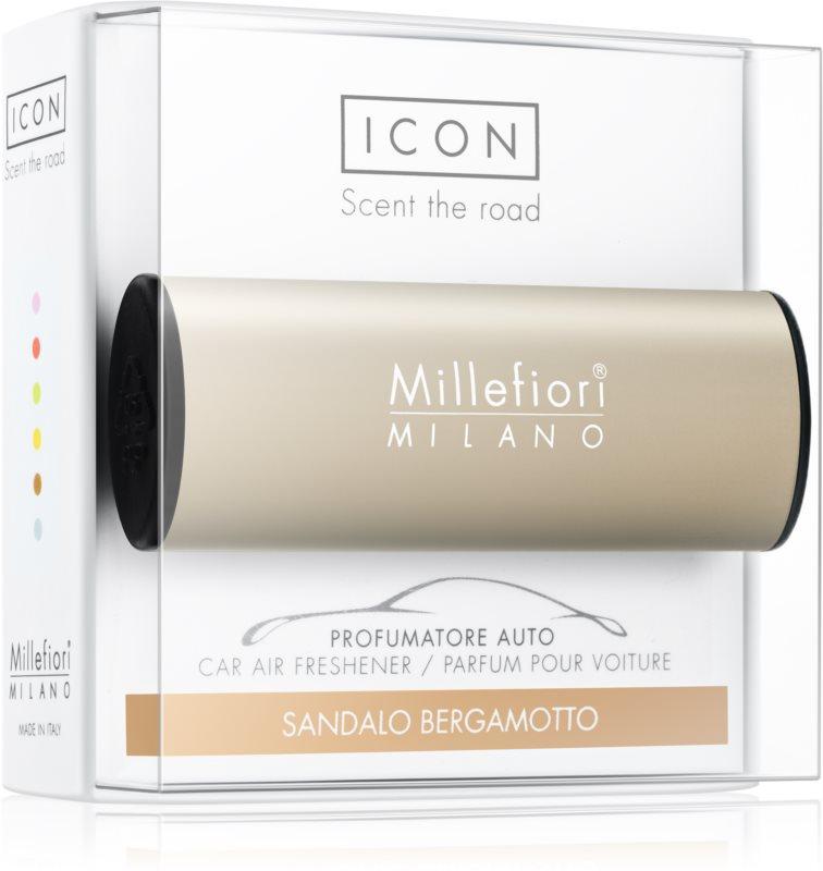 Millefiori Icon Sandalo Bergamotto parfum pentru masina   Metallo